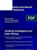 Data Mining and Neural Networks Danny Leung (1)