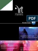RCF ART 7 Series speaker manual
