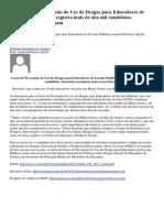 Curso de Prevenção do Uso de Drogas para Educadores de Escolas Públicas registra mais de oito mil candidatos.docx