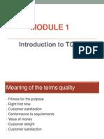 TQM Module 1