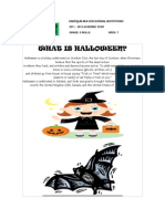 Halloween Vocabulary Handout