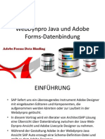 ebDynpro Java and Adobe Forms Data Binding