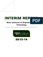 Arya Institute of Engineering and Technology Interim Report