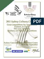 2011 Sydney Culinary Challenge Rulebook