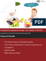 The Difference Between the Reality and Feeling of Security ISO 27001:2013