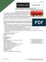 Foam Bladder Tanks Technical Data