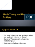 Theorists and Theories for G325