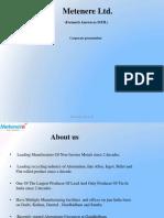 Metenere Ltd corporate Presentation