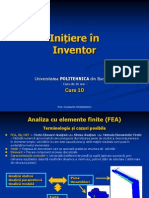 Initiere in Inventor - Curs 10