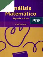Análisis Matemático Escrito Por Tom M. Apostol-Enrique Linés Escardó