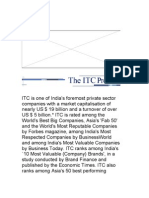 ITC is One of India's Foremost Private Sector Companies With