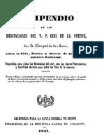 Compendio de Las Meditaciones de Luis de La Puente