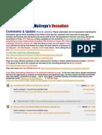 Maitreya's Deception