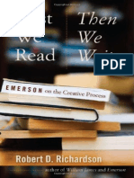 First We Read, Then We Write- Emerson on the Creative Process