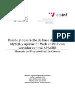 Diseño y Desarrollo de Base de Datos en MySQL y PHP APACHE