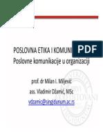 Poslovne Komunikacije u Organizaciji
