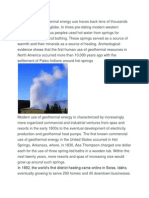 The History of Geothermal Energy Use Traces Back Tens of Thousands of Years Around the Globe
