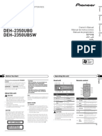 Operating Manual (Deh-2350ub)- Eng - Esp - Por