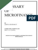 Glossary of Micro Finance