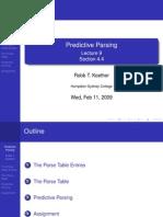 Lecture 9 - Predictive Parsing
