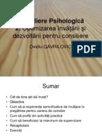 Consiliere Psihologica 2_optimizarea Invatarii