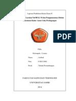 Standarisasi Larutan NaOH 0,1 M Dan Penggunaannya Dalam Penentuan Kadar Asam Cuka Perdagangan