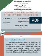 Diseño y Modelamiento de Un Biodigestor