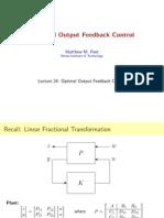 543 Lecture 24 peet optimal output feedback