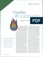 Crucibles of Leadership- Bennis