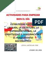 Actividades Para Iniciar Bien El Dia PDF Sexto