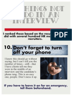 10 Things Not to Do in an Interview