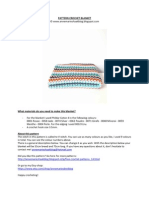 Crochet Pattern v-stitch Blanket
