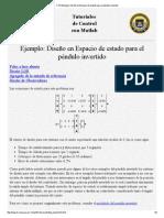 CTM Ejemplo_ Diseño en Espacio de estado para el péndulo invertido.pdf