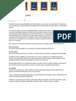 aldi corporate responsibility policy  1