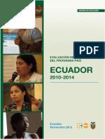 Evaluación Final de Programa de Pais ECUADOR