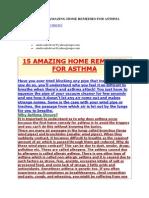 Asthama Remedies