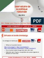 Baromètre BVA - Orange - L'Express - Presse Régionale - France Inter - Mai 2014