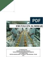 Elaboracion de Frutas en Almibar