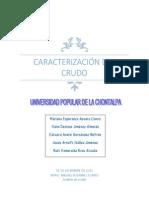 Caracterización de Crudos y de Productos Petrolíferos