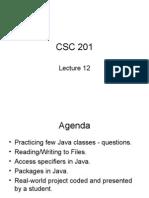 • • • • • Practicing Few Java Classes