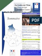 Lettre Des Services de l'Etat en Eure-et-Loir Et en Région Centre - Mai 2014