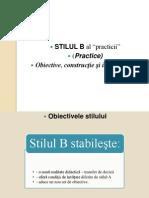 Cursul 6 - Stilul B..Ppt 2012