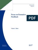 Formative Feedback - Shute