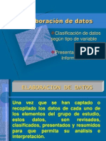 4 . Elaboracion de Datos Estadistica