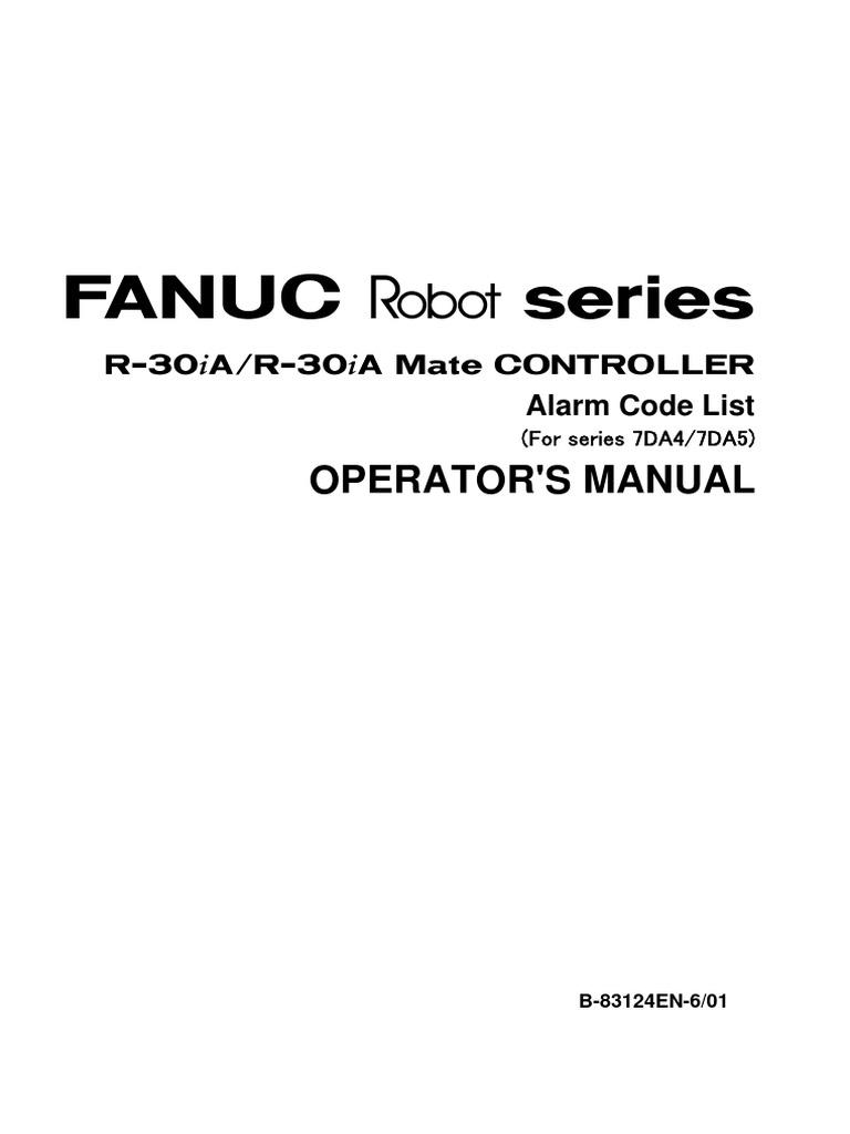Alarm Code List - Operator Manual | Robot | Technology