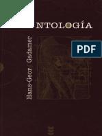 Antología Hans Georg Gadamer