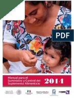 Manual Para El Suministro y Control Del Suplemento Alimenticio 2014