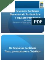 2. Relatórios Contábeis , Elementos Do Patrimônio e a Equação Patrimonial