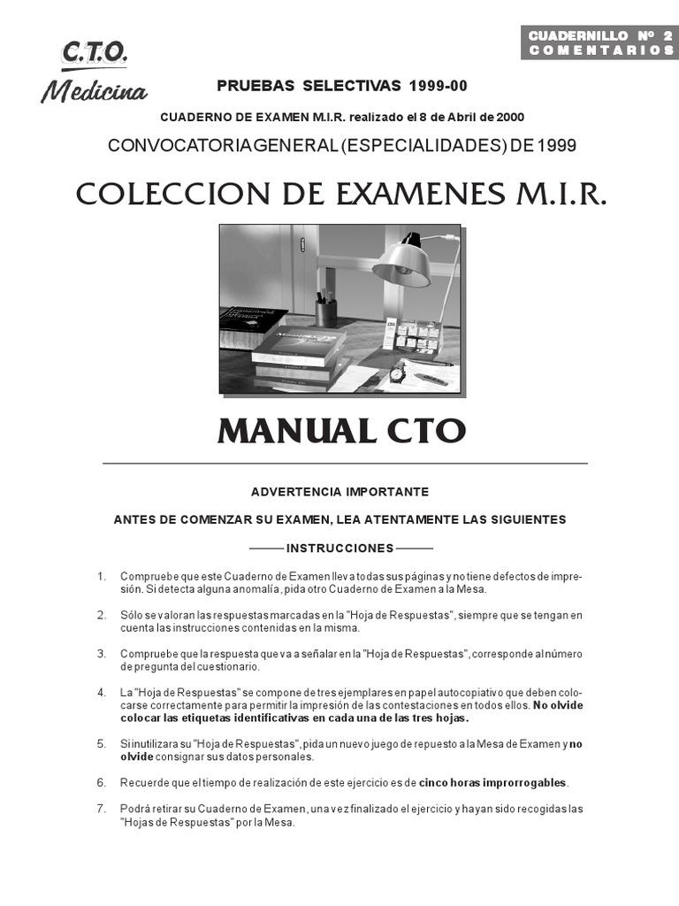 Colección Exámenes. Comentarios Mir