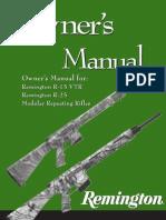 Remington R-25 Manual
